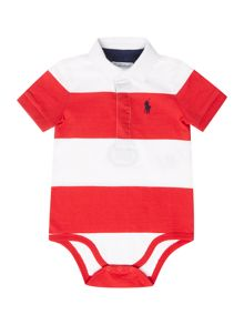 Polo Ralph Lauren Baby Boys Block Stripe All in One