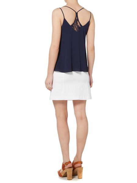 Therapy Denim Button Front Skirt