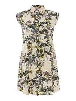 Alitha Floral Sleeveless Longline Tunic