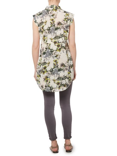 Gray & Willow Alitha Floral Sleeveless Longline Tunic