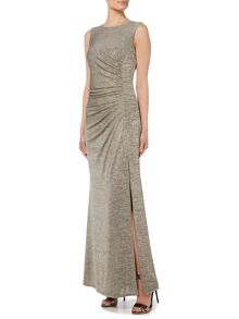 Biba Sleeveless metallic maxi dress