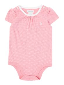 Polo Ralph Lauren Baby Girls Polka  Bodysuit