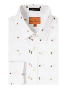 Simon Carter Summer Fruit Jacquard Shirt
