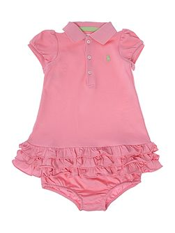 Baby Girls Frill Hem Polo Dress