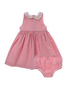 Polo Ralph Lauren Baby Girls Stripe Lace Collar Dress