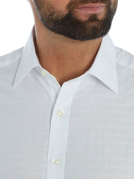 Simon Carter Moustache Pattern Shirt