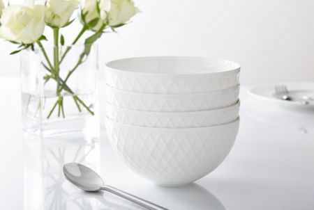 Linea Ceremony fine bone china set of 4 cereal bowls