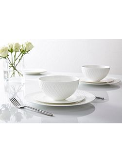 Ceremony 12 piece fine bone china dinnerware set