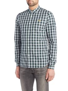 Fred Perry Long sleeve campbell tartan shirt