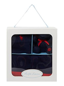 Polo Ralph Lauren Baby Boys Stripe Shortall,Hat &