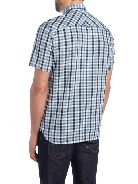 Fred Perry Herringbone gingham short sleeve shirt