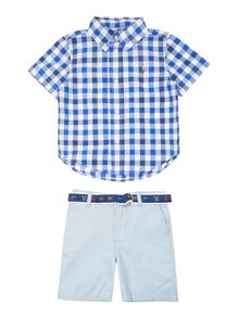 Polo Ralph Lauren Baby Boys Gingham Shirt & Chino Short Set