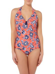 Dickins & Jones FLORAL PRINT BUILT UP TRIANGLE SWIMSUIT