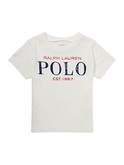 Baby Boys Crew Neck Polo Logo T-Shirt