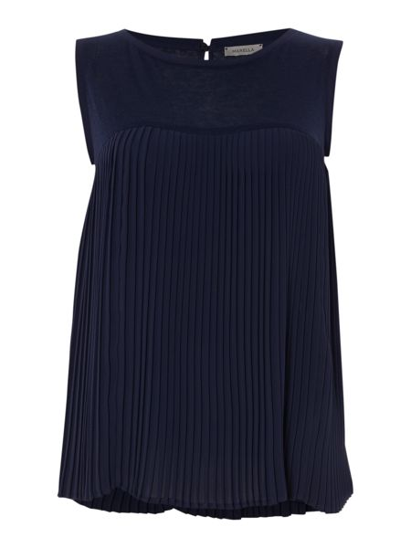 Marella Tevere sleeveless pleated top