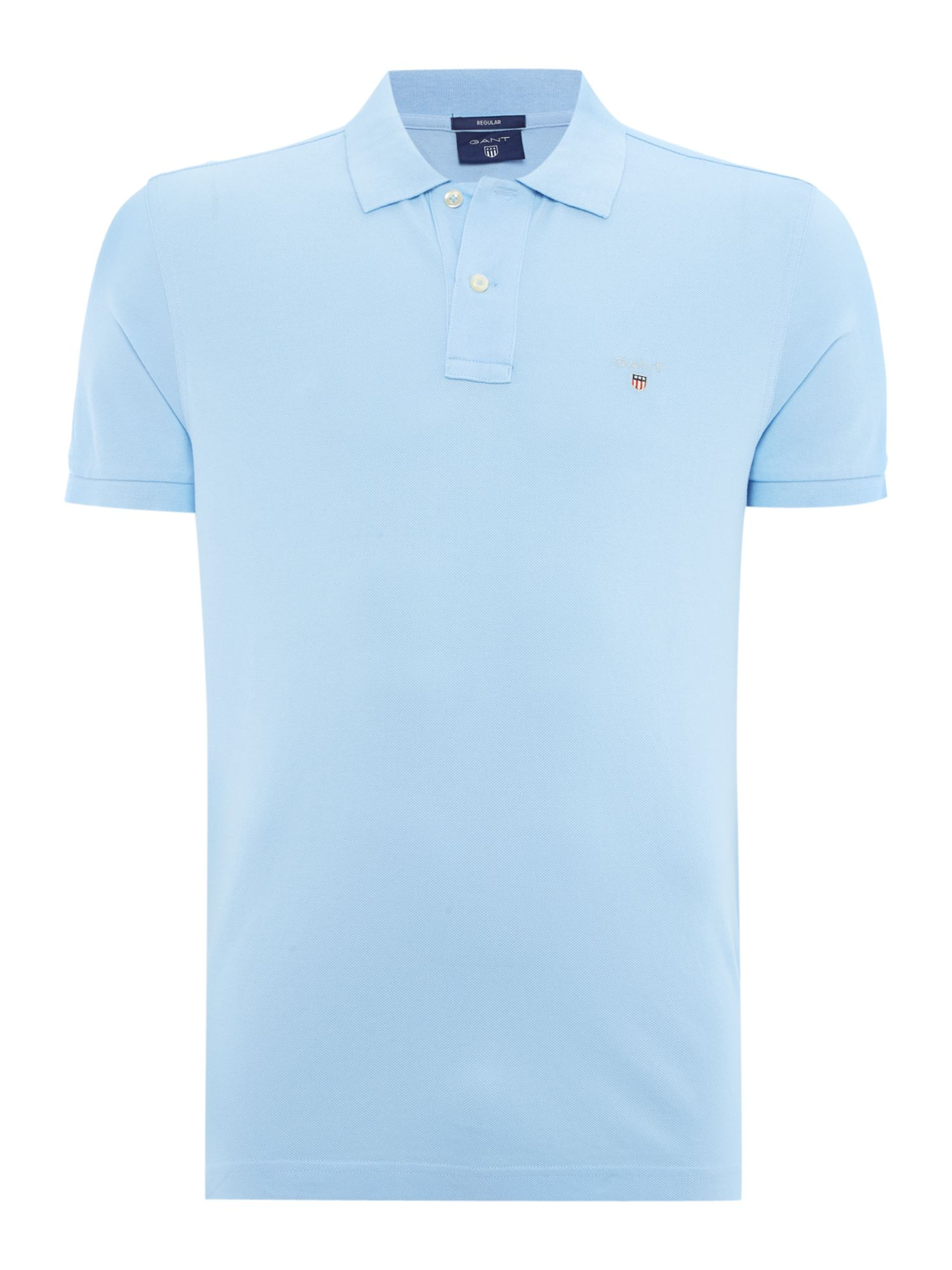 Men's Gant Original Pique Short Sleeve Polo, Light Blue