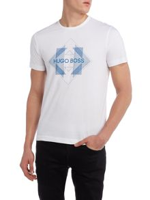 Hugo Boss Tee 2 regular fit diamond logo printed t shirt
