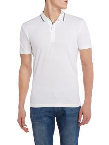 Pasey regular fit tipped collar polo shirt