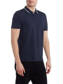 Hugo Boss Pasey regular fit tipped collar polo shirt