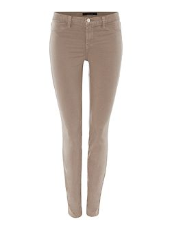 Mid rise luxe sateen skinny jean in melody