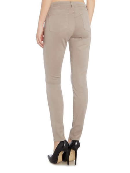 J Brand Mid rise luxe sateen skinny jean in melody grey