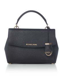 Michael Kors Ava black small satchel bag