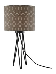 Living by Christiane Lemieux Carter Black Tripod Table Lamp with Gate