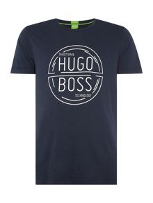 Hugo Boss Tee 1 regular fit circle logo t shirt