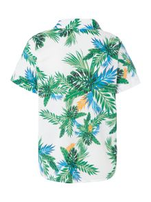 Benetton Boys Hawaiian print shirt