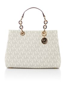 Michael Kors Cynthia neutral medium satchel bag