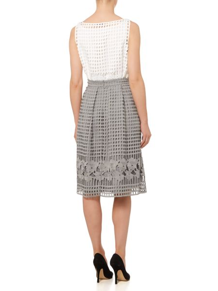 Marella Cheer open woven floral skirt