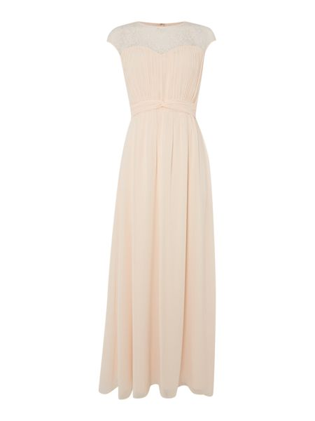 Little Mistress Sleeveless Chiffon Maxi Dress