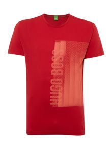 Hugo Boss Tee 4 regular fit rubberised logo t shirt