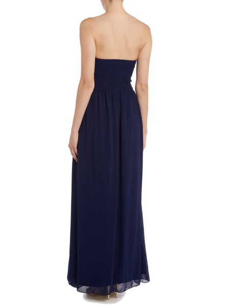 Little Mistress Embellished Bandeau Maxi Dress