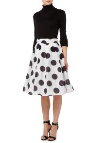 Studio 75 High Waisted Polka Dot Skirt