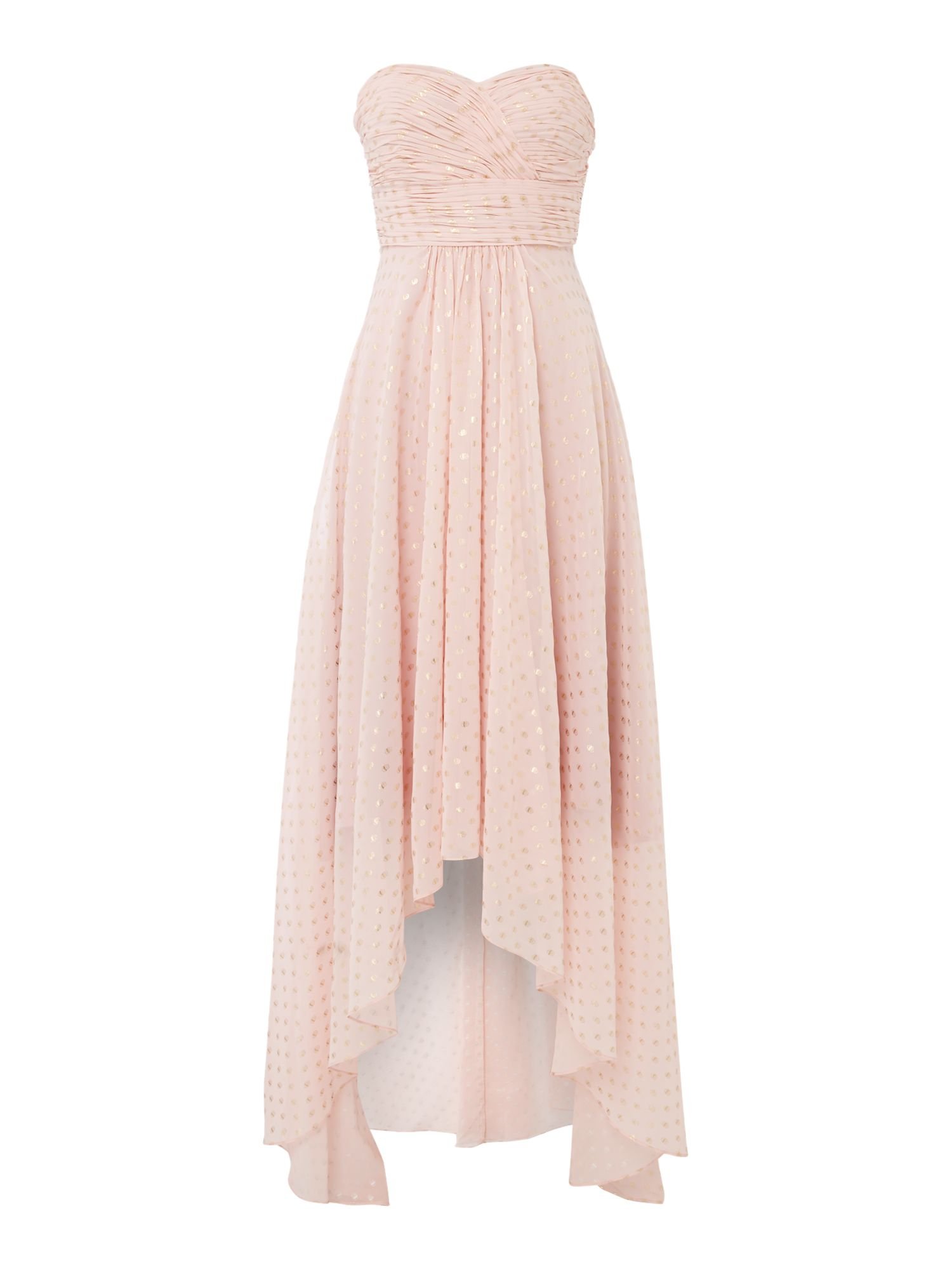 Studio 75 Studio 75 Strapless Sweetheart Neck Maxi Dress, Pink