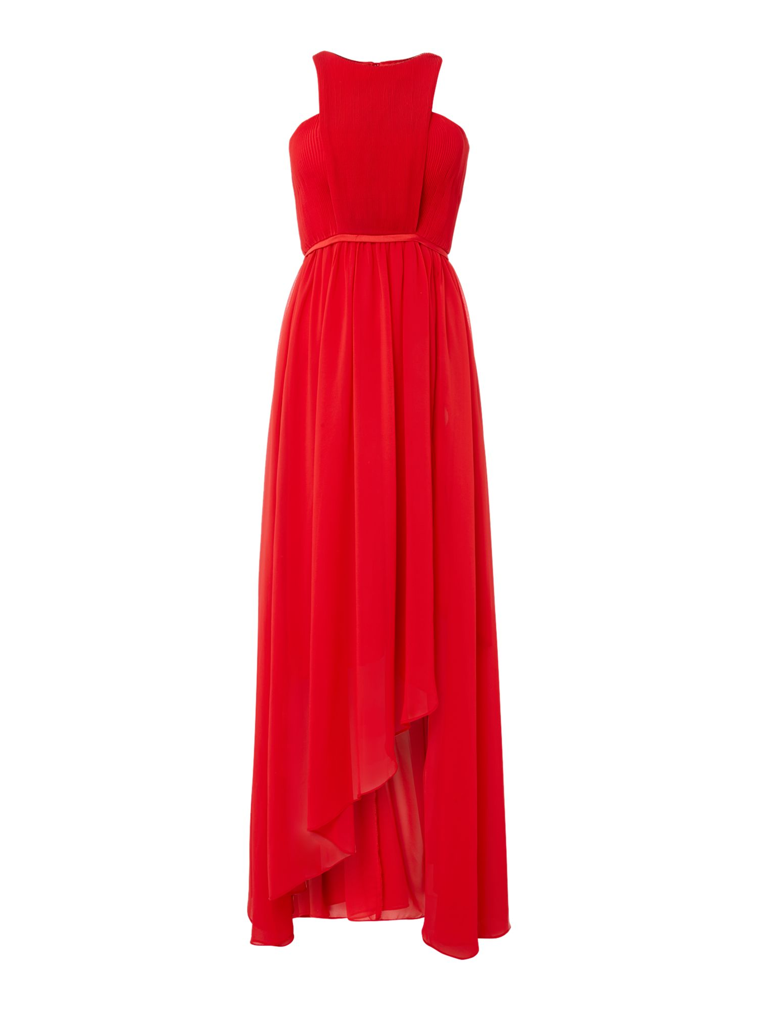 Studio 75 Studio 75 Sleeveless High Neck Cut Out Detail Maxi Dress, Red