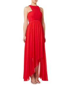 Studio 75 Sleeveless High Neck Cut Out Detail Maxi Dress