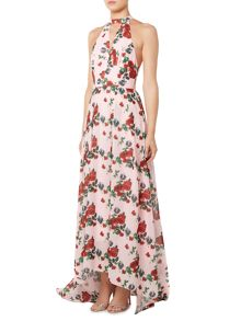 Studio 75 Sleeveless Halterneck Floral Maxi Dress