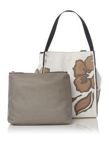 Marella Timo leaf detail tote bag