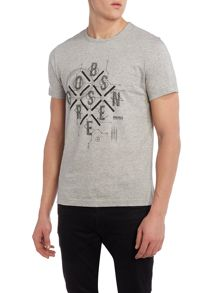 Hugo Boss Tee 3 regular fit diamond logo print t shirt