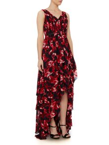 Studio 75 Sleeveless High Hem Floral Maxi Dress