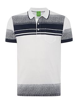 Paddy 4 regular fit mercerised stripe polo shirt