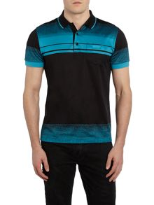 Hugo Boss Paddy 4 regular fit mercerised stripe polo shirt