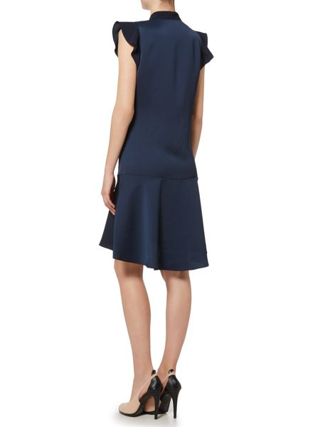 Ellen Tracy Flutter sleeve shirt dress