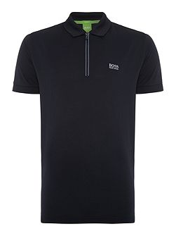 Philix regular fit zip collar polo shirt