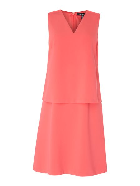 Ellen Tracy V neck dress