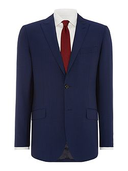 Solid Dark Blue Suit Jacket