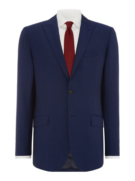 Simon Carter Solid Dark Blue Suit Jacket