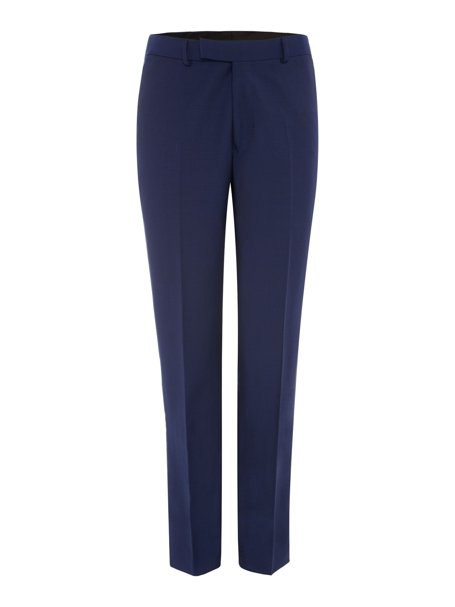 Men's Simon Carter Solid Dark Blue Suit Trousers, Dark Blue